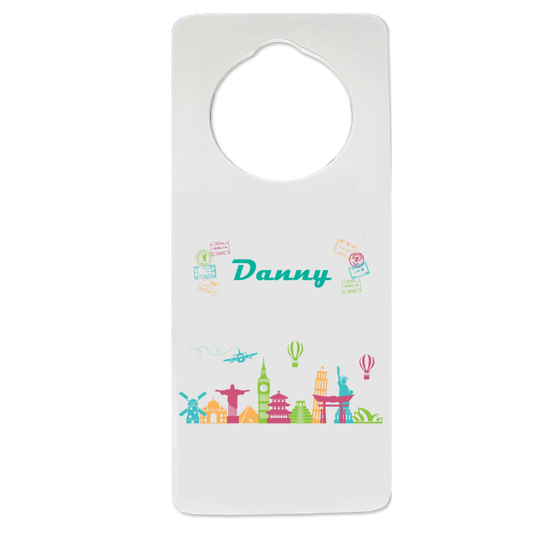World Travel Door Hanger