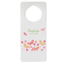 Pink and Yellow Butterflies Door Hanger