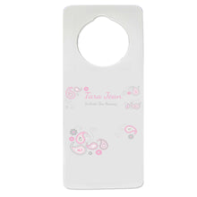 Pink and Teal Paisley Door Hanger