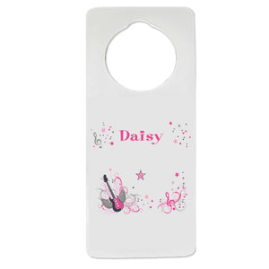 Pink Rock Star Door Hanger