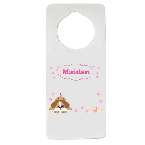 Pink Puppy Door Hanger