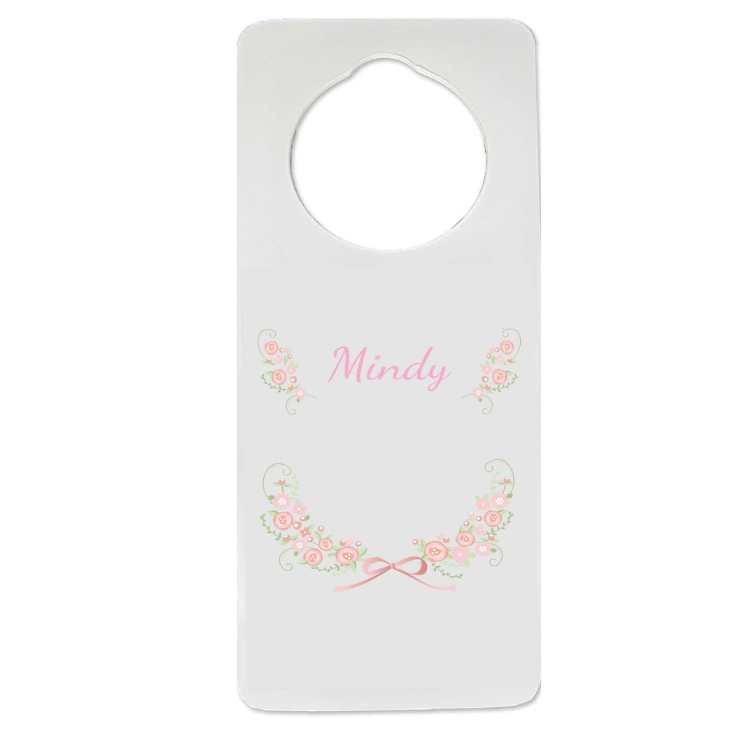 Blush Floral Garland Door Hanger