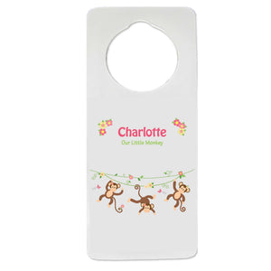 Monkey Girl Door Hanger
