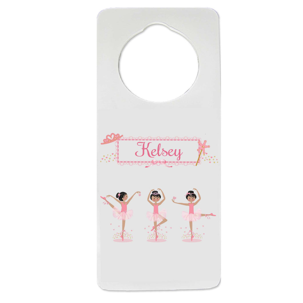 Black Hair Ballerina Door Hanger