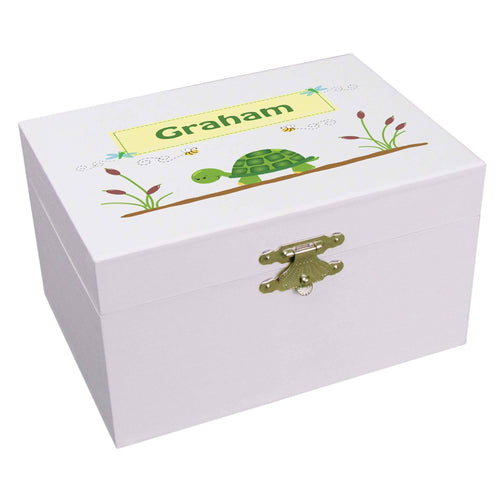 Personalized Ballerina Jewelry Box with Turtle design