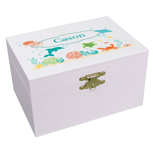 Personalized Sea Life Animals Ballerina Jewelry Box