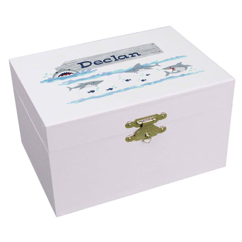 Personalized Ballerina Jewelry Box with Shark Tank design