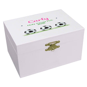 Soccer Ball Musical Ballerina Jewelry Box