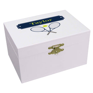 Personalized Ballerina Jewelry Box with Tennis design