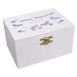 Lavender Butterflies Musical Ballerina Jewelry Box