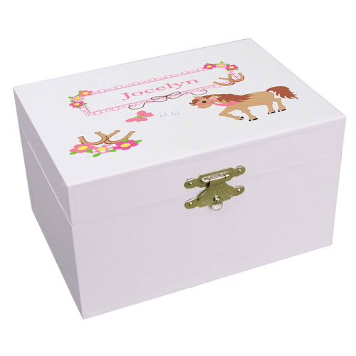Personalized Little Pony Musical Ballerina Jewelry Box