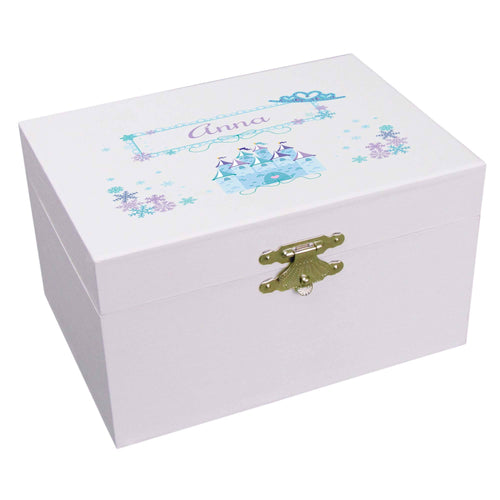 Personalized Ballerina Jewelry Box blue Princess
