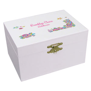 Personalized Ballerina Jewelry Box with Groovy Swirl design