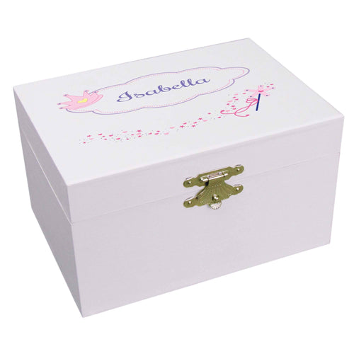 Personalized Ballerina Jewelry Box with Fairy Princess design