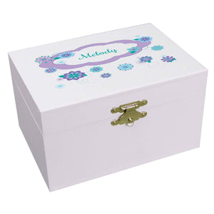 Personalized Ballerina Jewelry Box with Florascope design