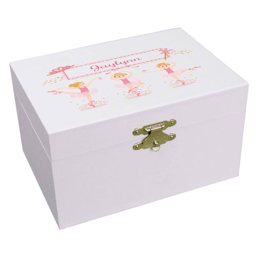 Personalized Ballerina Jewelry Box with blonde Ballerina