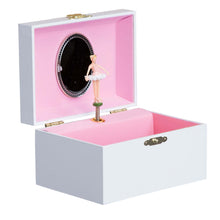 Teal Circle Musical Ballerina Jewelry Box