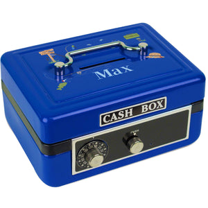 Personalized Gone Fishing Childrens Blue Cash Box