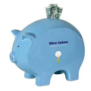 Blue Piggy Bank - Single Golf Ball