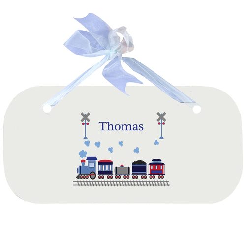 Personalized Wall Plaque Door Sign Train design