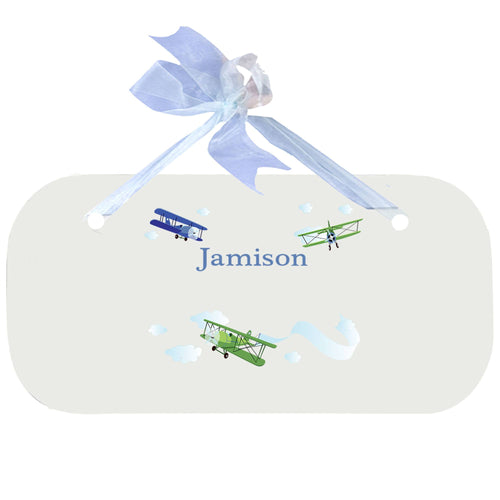 Personalized Wall Plaque Door Sign Airplane design