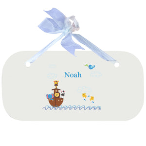 Personalized Wall Plaque Door Sign Noahs Ark design