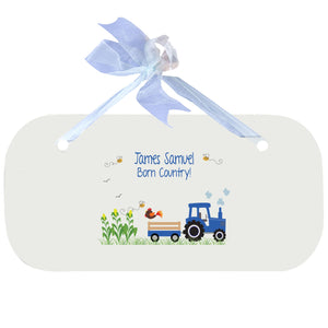 Blue Wall Plaque - Blue Tractor