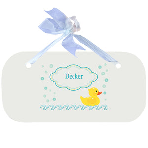 Personalized Wall Plaque Door Sign Rubber Ducky design