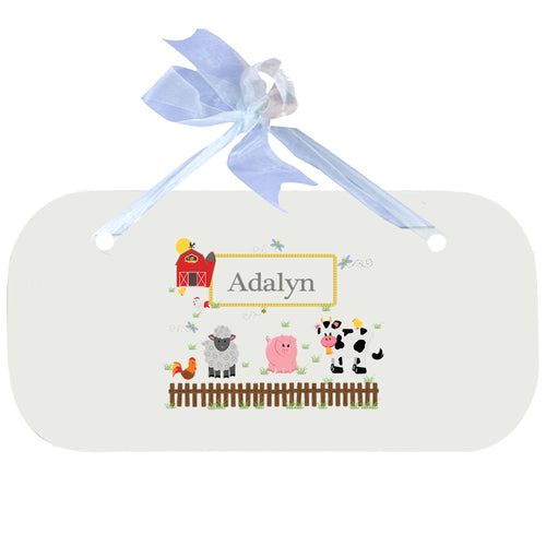 Personalized Wall Plaque Door Sign Barnyard Friends design