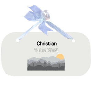 Blue Wall Plaque - Misty Mountain