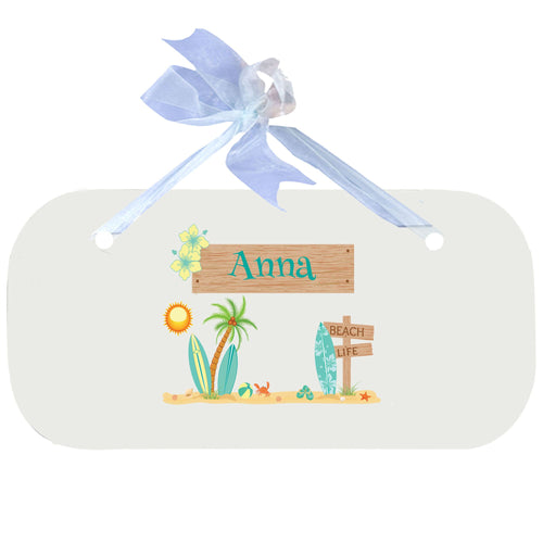 Personalized Wall Plaque Door Sign Surf'S Up design
