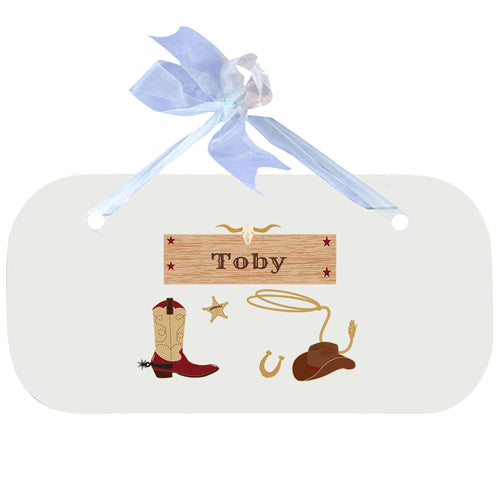 Personalized Wall Plaque Door Sign Wild West design