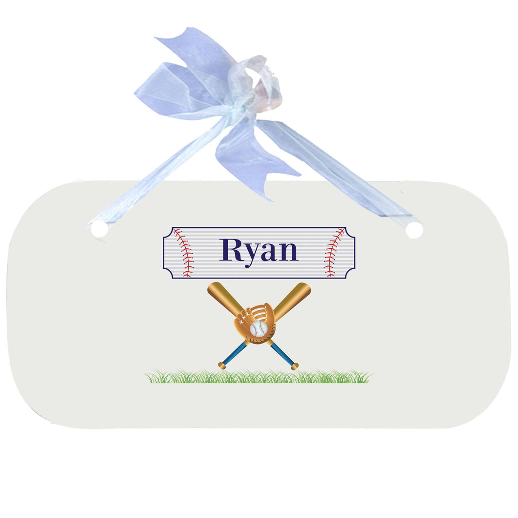 Personalized Wall Plaque Door Sign Baseball design