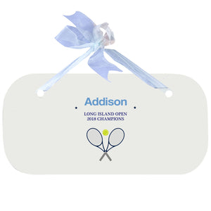 Blue Wall Plaque - Tennis