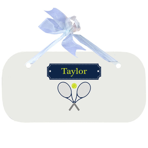 Personalized Plaque with Tennis design
