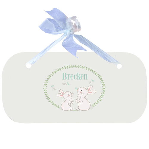 Personalized Bunny Wall Plaque door sign