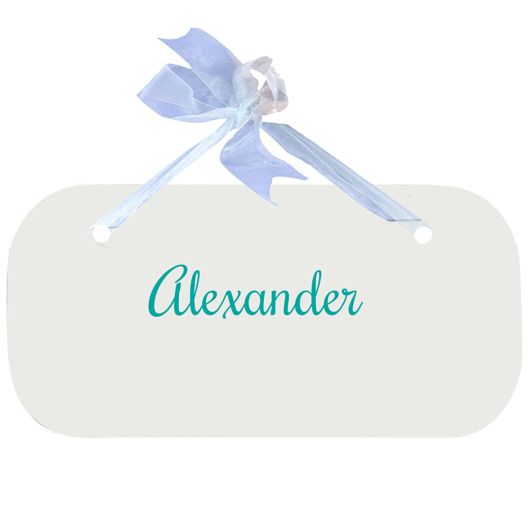 Child Wall Plaque Door Hanger Sign with Name