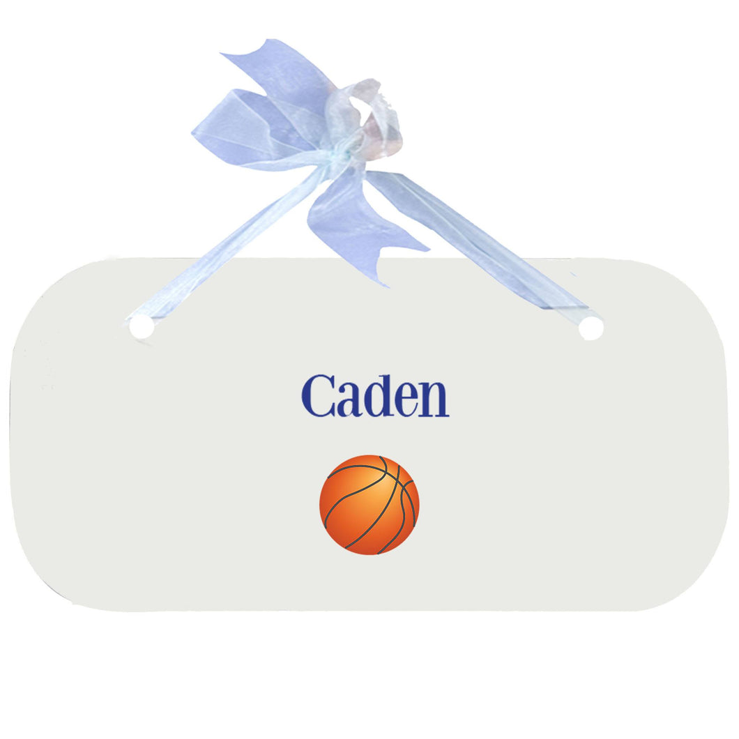 Personalized Wall Plaque Door Sign Single Basketball design