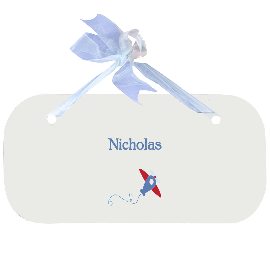 Personalized Wall Plaque Door Sign Single Plane design