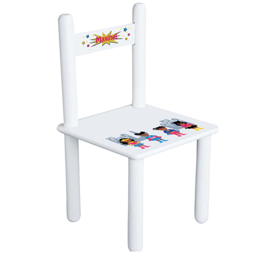 Girl's African American Superhero Chair