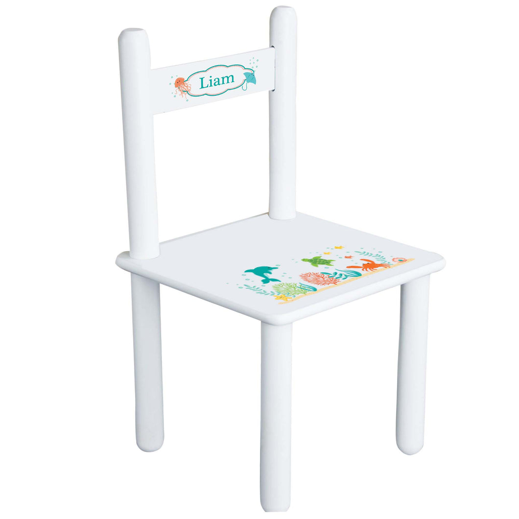 Personalized Child's Sea Life Chair