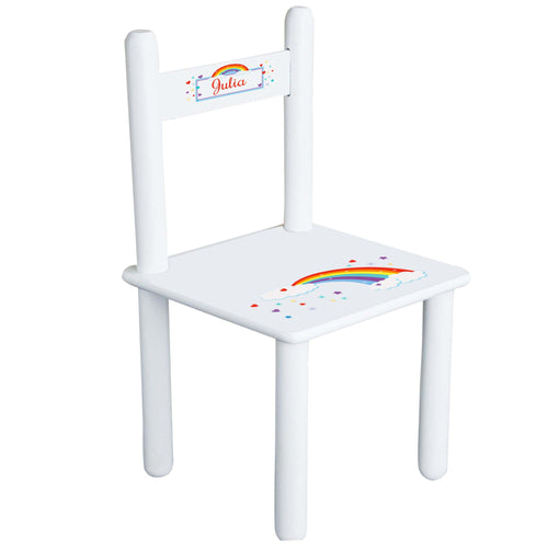 Personalized Child's Rainbow Chair