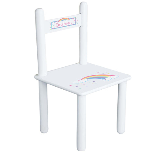 Personalized Pastel Rainbow Chair