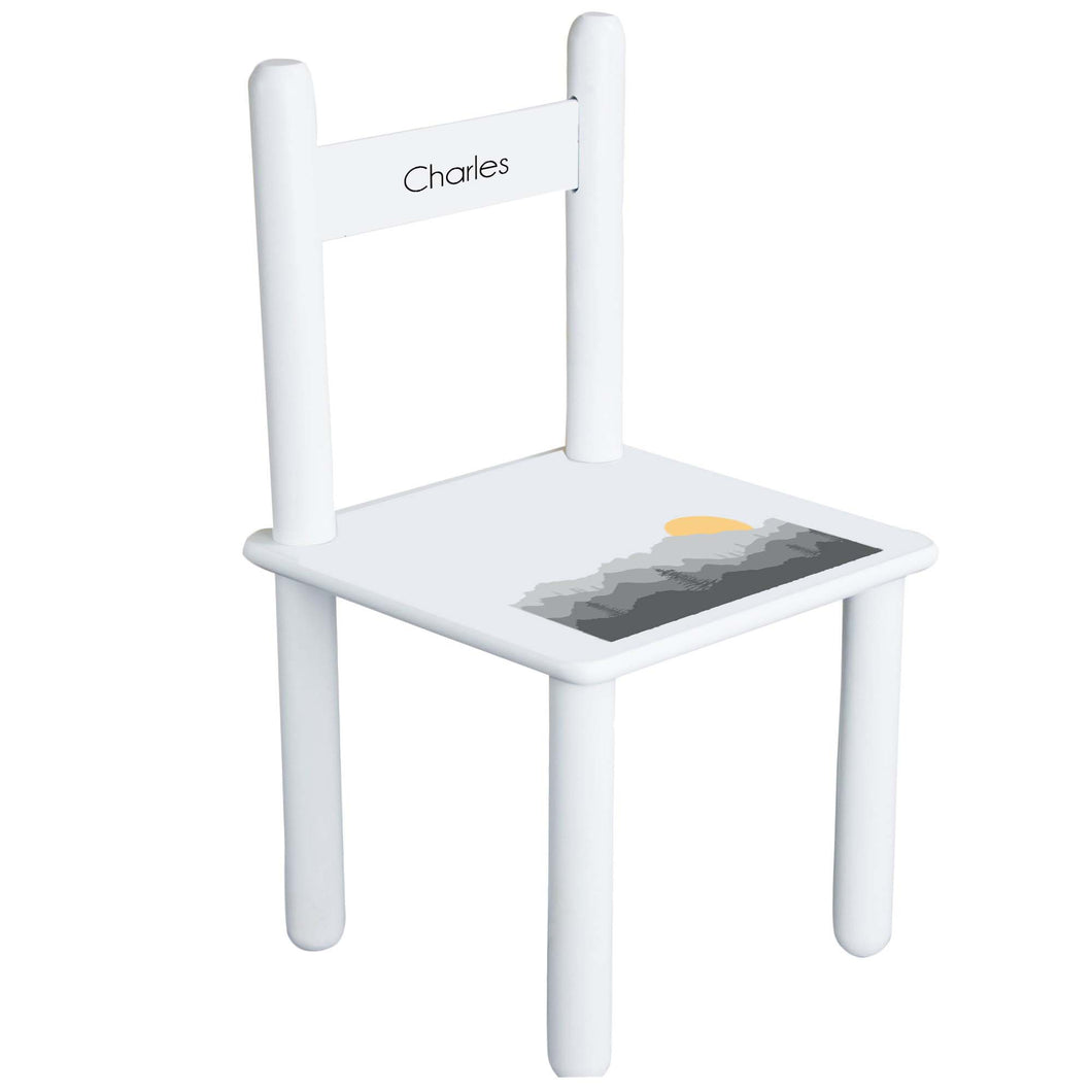 Personalized Misty Mountain Chair