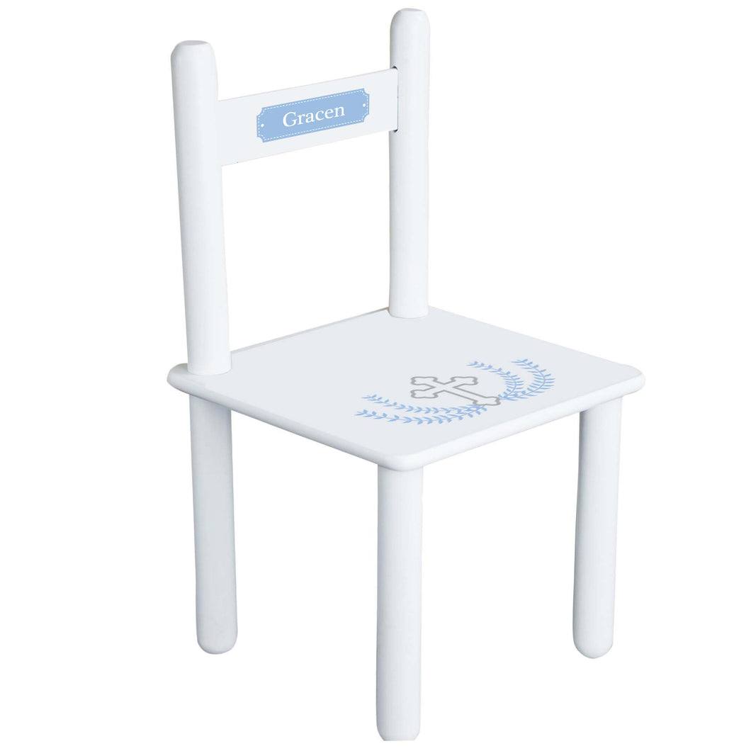 Personalized Lt Blue CrossChair