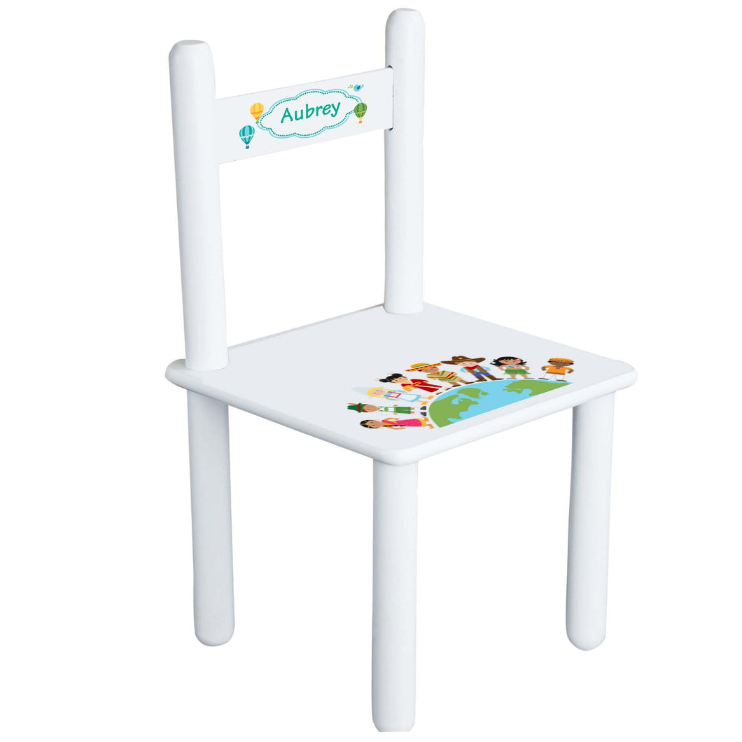Personalized Child's Small World Chair