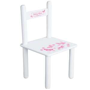 Personalized Pink Butterflies Chair