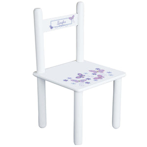 Personalized Lavender Butterflies Chair