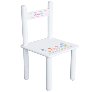 Personalized Stemmed Flowers Chair