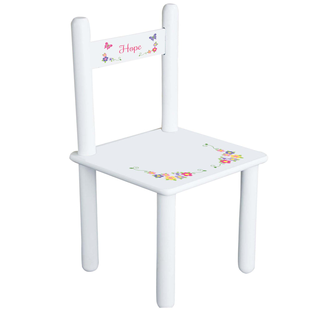 Bright Butterfly Garland Chair